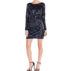Jessica Simpson Long-Sleeve Sequin Dress.